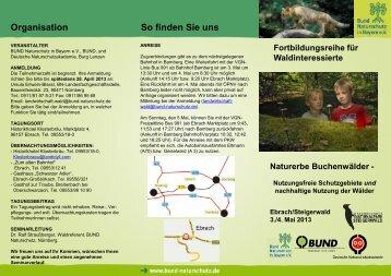 Seminar Naturerbe Buchenwälder - Nationalpark Steigerwald
