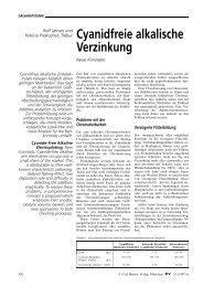 Cyanidfreie alkalische Verzinkung - Surtec.ch