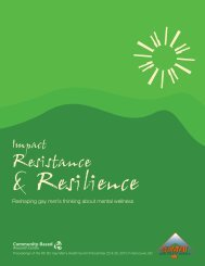 Impact, Resistance & Resilience - Community-Based Research Centre