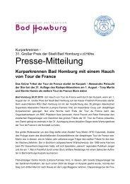 Kurparkrennen Bad Homburg mit einem Hauch von Tour de France