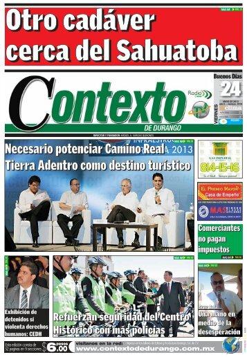 24/05/2013 - Contexto de Durango