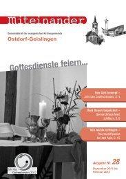 Nr. 28: Dezember 2011 - Februar 2012 - Evangelische ...