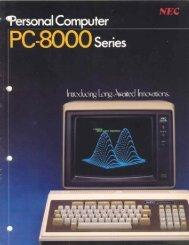 Personal Computer PC-8000 Series - 1000 BiT