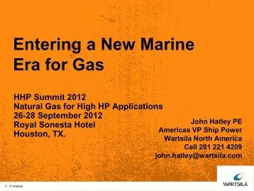 Entering a New Marine Era for Gas - HHP