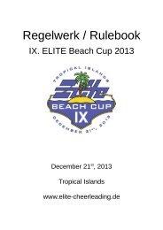 Regelwerk Beach Cup 2013 - ELITE Cheerleading