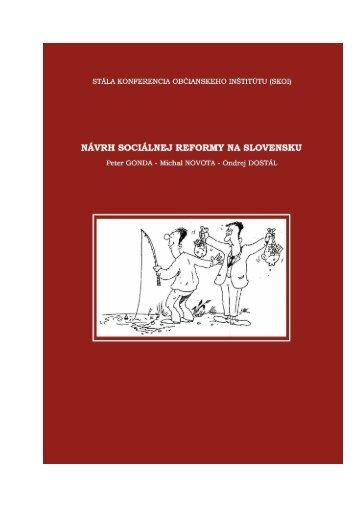 Návrh sociálnej reformy na Slovensku - Peter Gonda
