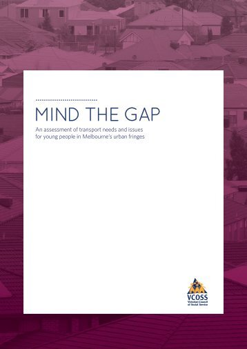 MIND THE GAP - Victorian Council of Social Service