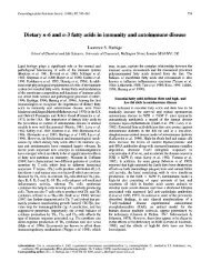 Dietary n-6 and n-3 fatty acids in immunity and ... - Direct-MS