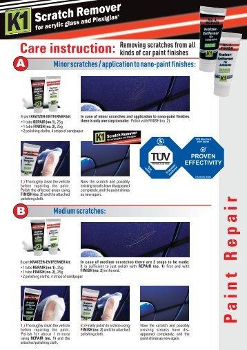 K1 Auto Pflegetipps Flyer A4 Biometrixx eng.cdr