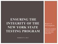 Ensuring the Integrity of the New York State Testing Program ...