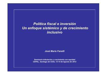 Política fiscal e inversión en América Latina - Cepal