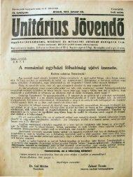 1941. Január - Magyarországi Unitárius Egyház