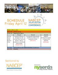 schedule Friday April 12 - nabcep