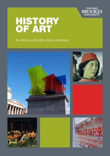 HISTORY OF ART - Department of History - Oxford Brookes University