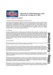 Allgemeine Geschäftsbedingungen (AGB Internet) für Verträge ab ...