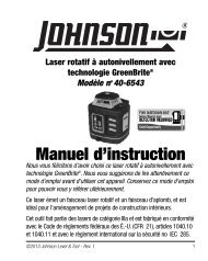 Manuel d'instructions - Johnson Level