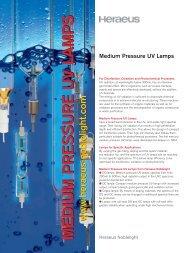 MEDIUM PRESSURE UV LAMPSMEDIUM PRESSURE ... - Prolight