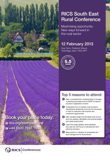 RICS South East Rural Conference - Rural Economy and Land Use ...
