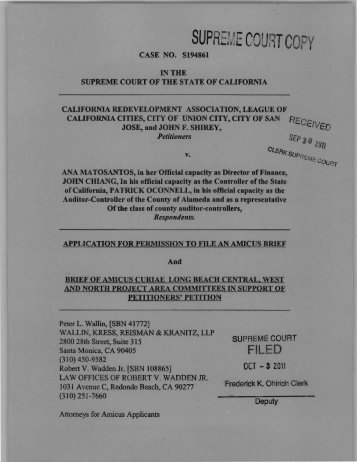Amicus Curiae Brief of Long Beach Central, West - California Courts ...