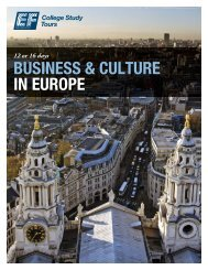 BUSINESS & CULTURE IN EUROPE - EF College Study Tours