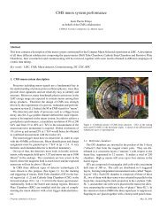 CMS muon system performance - Particle Physics at CIEMAT