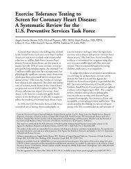 Exercise Tolerance Testing to Screen for Coronary Heart Disease: A ...