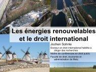 Les énergies renouvelables et le droit international