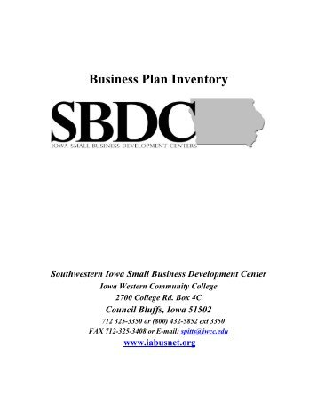 Business Plan Inventory - Southeastern Community College