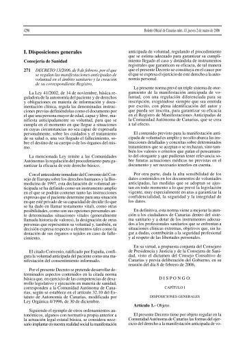 Decreto 13/2006 - Gobierno de Canarias