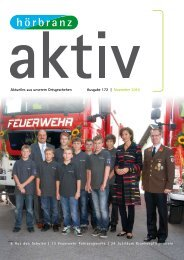 Aktuelles aus unserem Ortsgeschehen Ausgabe 172 | November 2010