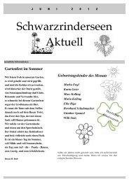 Ausgabe Juni 2012 - an den Schwarzrinderseen