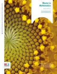 Master in Mathematics - University of Luxembourg - Université du ...