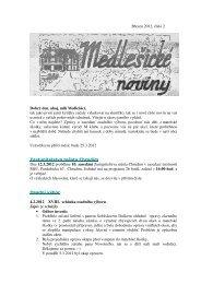 Medlešické noviny březen 2012 číslo 2. - M klub Medlešice