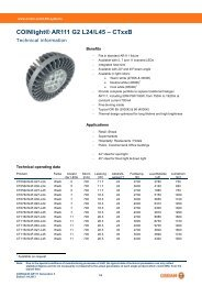 COINlight® AR111 G2 L24/L45 – CTxxB - Osram