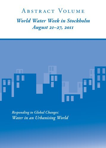 2011 Abstract Volume - World Water Week