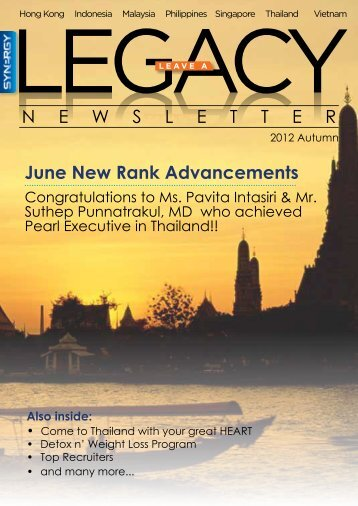 June New Rank Advancements N E W S L E T T E R - Synergy Pulse