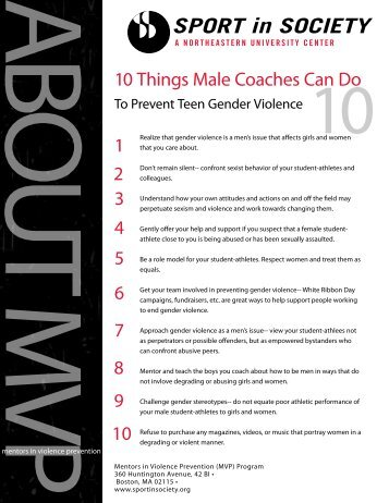 1 2 3 4 5 6 7 8 9 10 10 Things Male Coaches Can Do