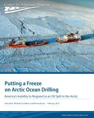 Putting a Freeze on Arctic Ocean Drilling - Center for American ...