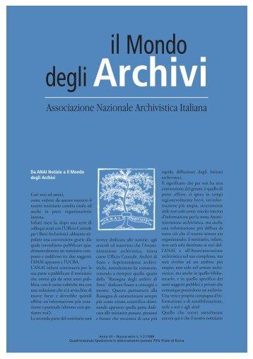 Il mondo degli archivi - Cultura in Cifre