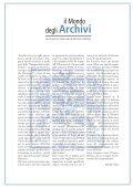 Il mondo degli archivi - Cultura in Cifre - Page 3
