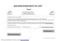 KILOMETERWERTUNG 2007 Endurance Distanzreiten - bei ...