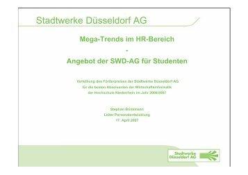 Stadtwerke Düsseldorf AG - Hochschule Niederrhein