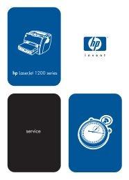 service manual HP LaserJet 1200.pdf - Quality Printers