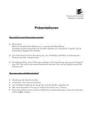 Präsentationen & Referate - Pestalozzi Gymnasium Biberach