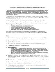 Instructions for Completing the Contract Review and Approval Form