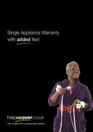 Single Appliance Warranty Policy + Summary Booklet ... - helpucover