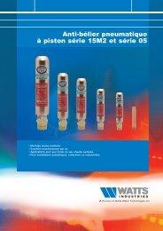Anti-bélier pneumatique à piston série 15M2 et ... - Watts Industries