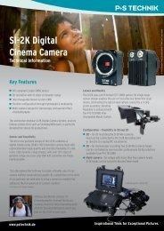 SI-2K Digital Cinema Camera Technical Information - P+S TECHNIK