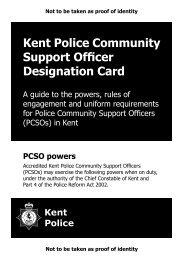 full list of PCSO powers - Kent Police
