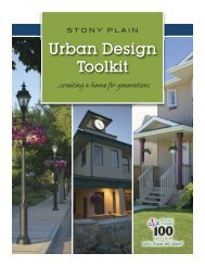 Urban Design Toolkit - Town of Stony Plain